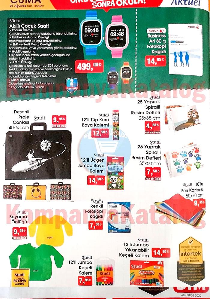BİM Market 21 – 28 Ağustos indirim broşürü haftalık aktüel katalog..! Bilicra akıllı çocuk saati, 5 Katlı Kitaplık, Gaming çalışma masası ve çok daha fazlası..!