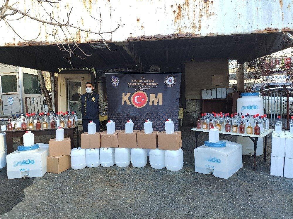 Yılbaşı Öncesi İstanbul'da 1.5 Ton Kaçak İçki Ele Geçirildi