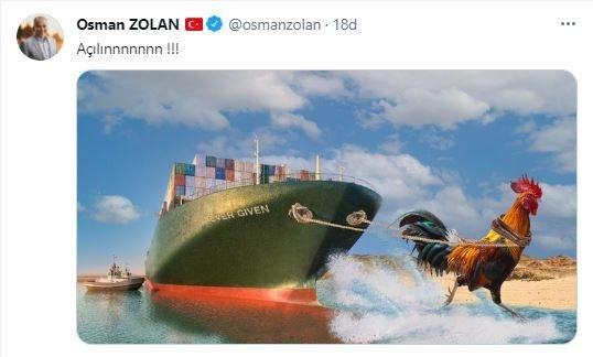 Süveyş Kanalıyla İlgili Denizli Horozu Paylaşımı