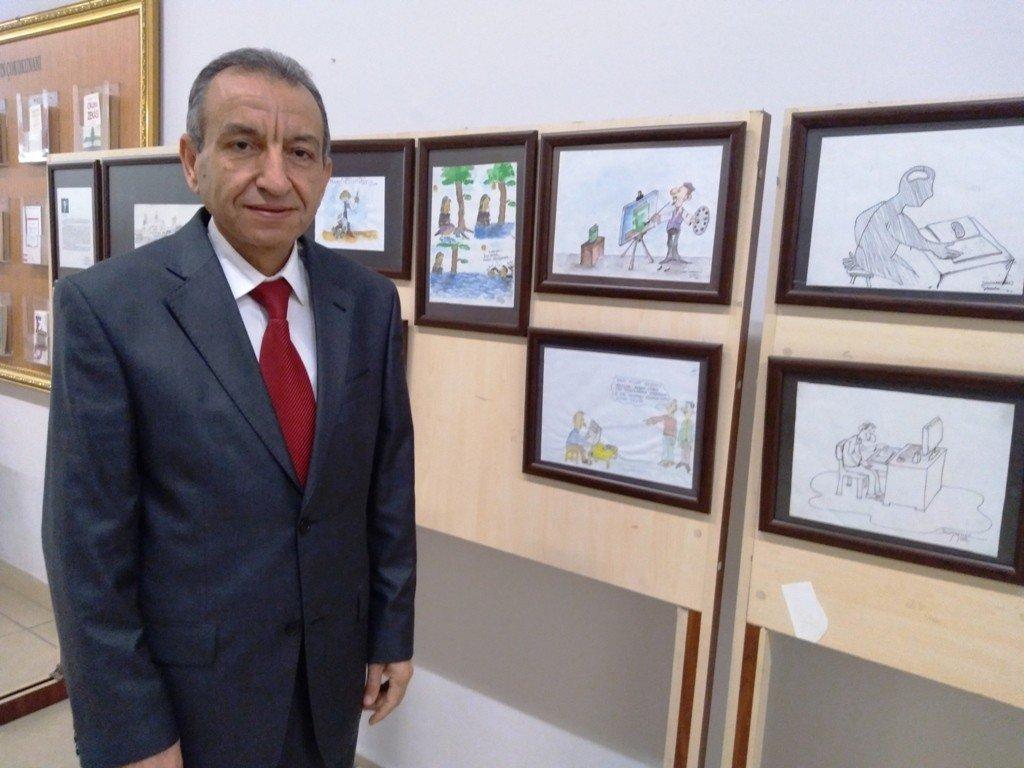 Kütüphane Müdürü Arslan 26. Karikatür Sergisini Açtı