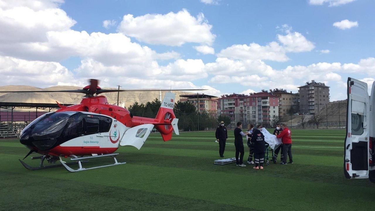 Kazada Ağır Yaralanan Kişinin İmdadına Hava Ambulansı Yetişti