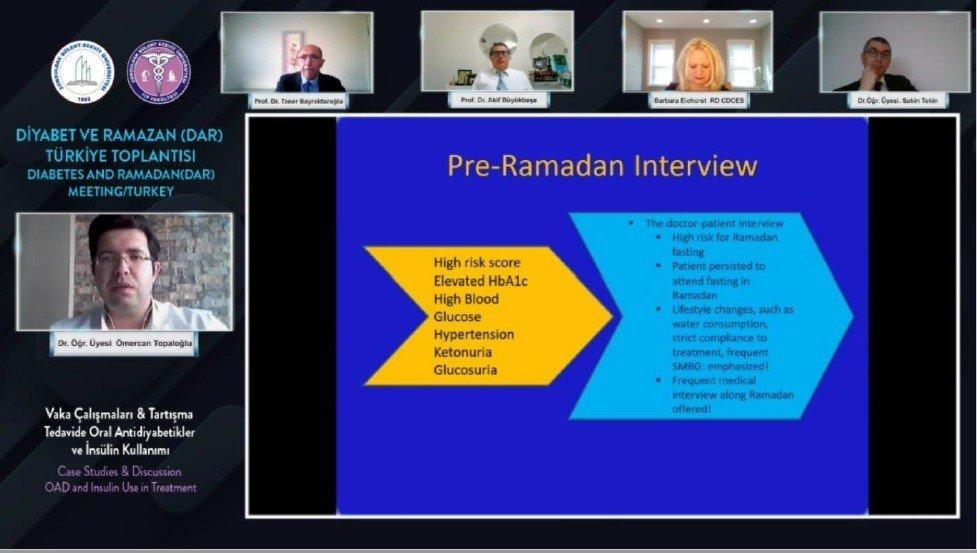 Beü'de Diyabet Ve Ramazan Uluslararası Online Toplantı Yapıldı