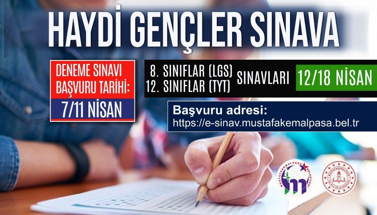 Belediyeden Öğrencilere Online Sınav Desteği