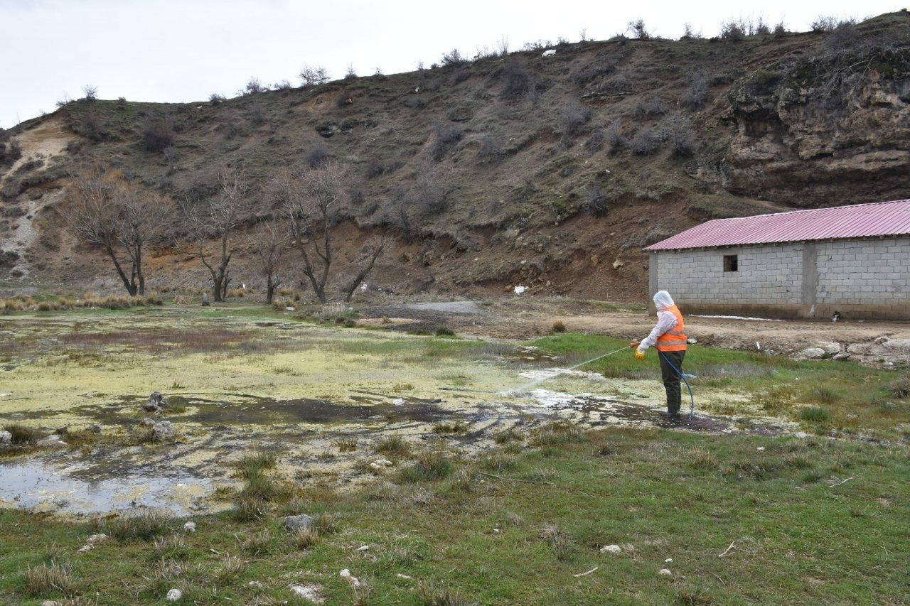 Tatvan'daki Park Ve Yeşil Alanlarda Lavra İlaçlama Çalışması