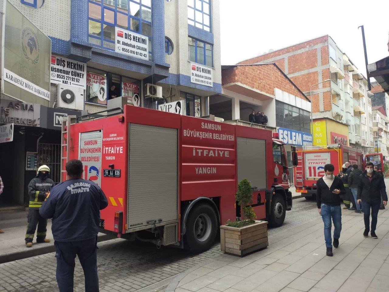 Yangın İhbarına Giden İtfaiye Mangal Dumanıyla Karşılaştı